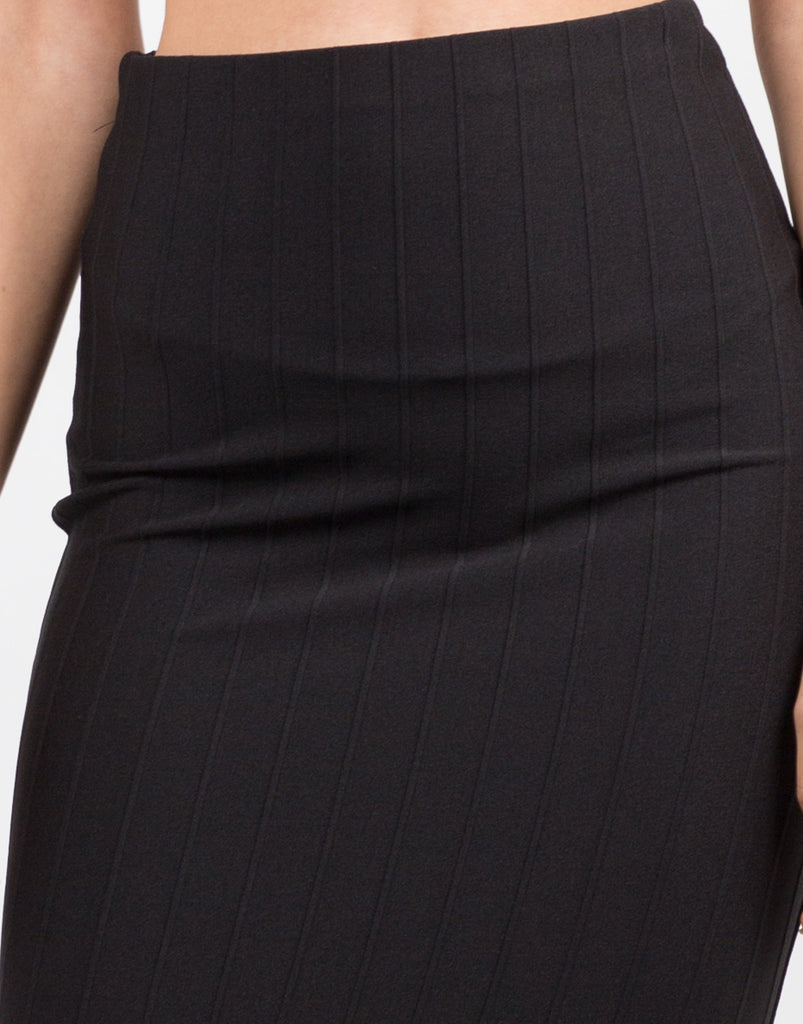 Detail of Classic Ribbed Pencil Skirt