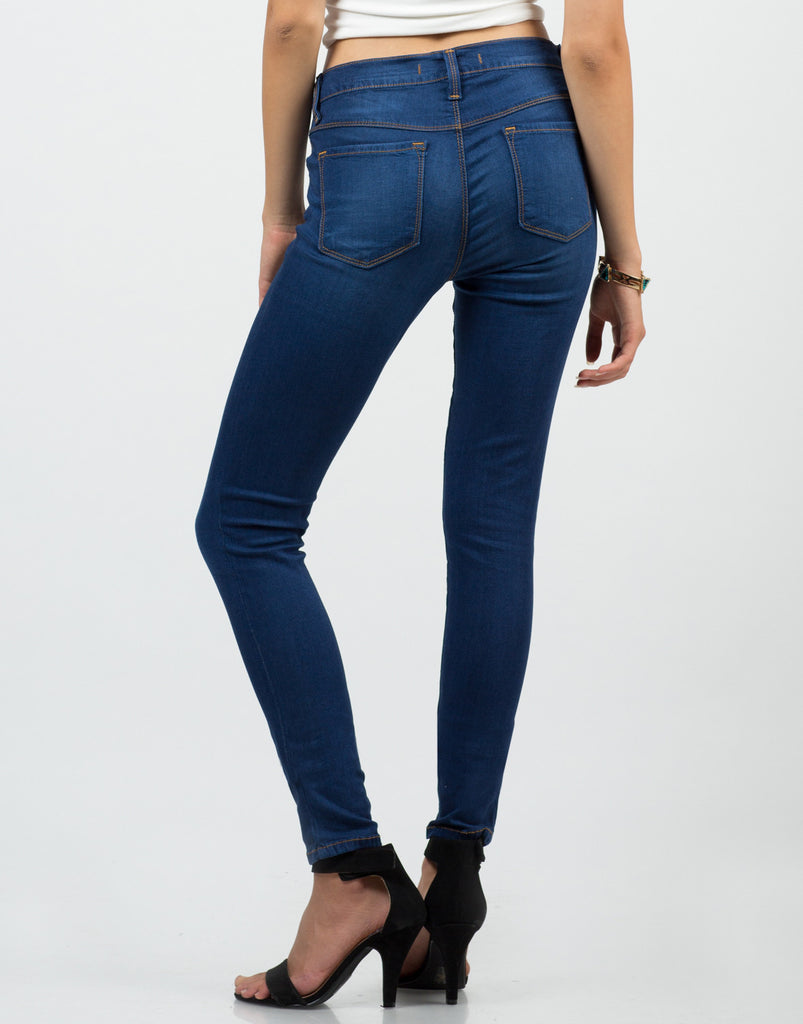 Back View of Classic Skinny Jeans