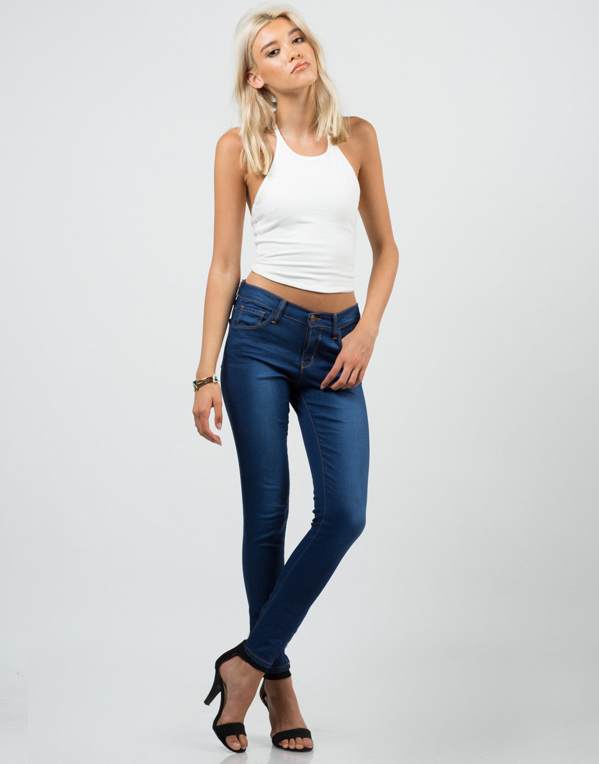 Front View of Classic Skinny Jeans