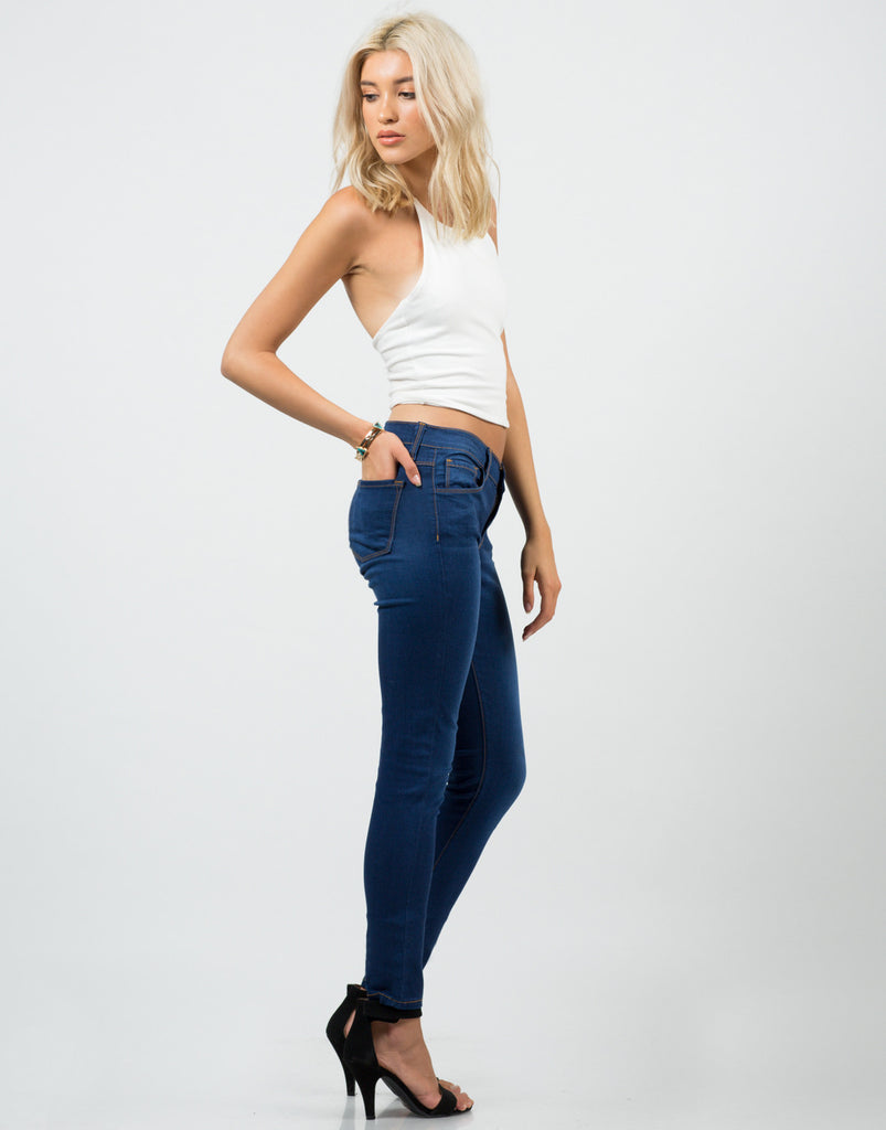 Side View of Classic Skinny Jeans