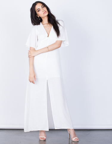 Front View of Clean Break Maxi Dress