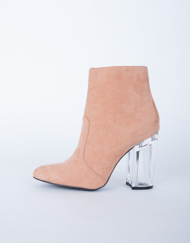 Clear Heel Boots