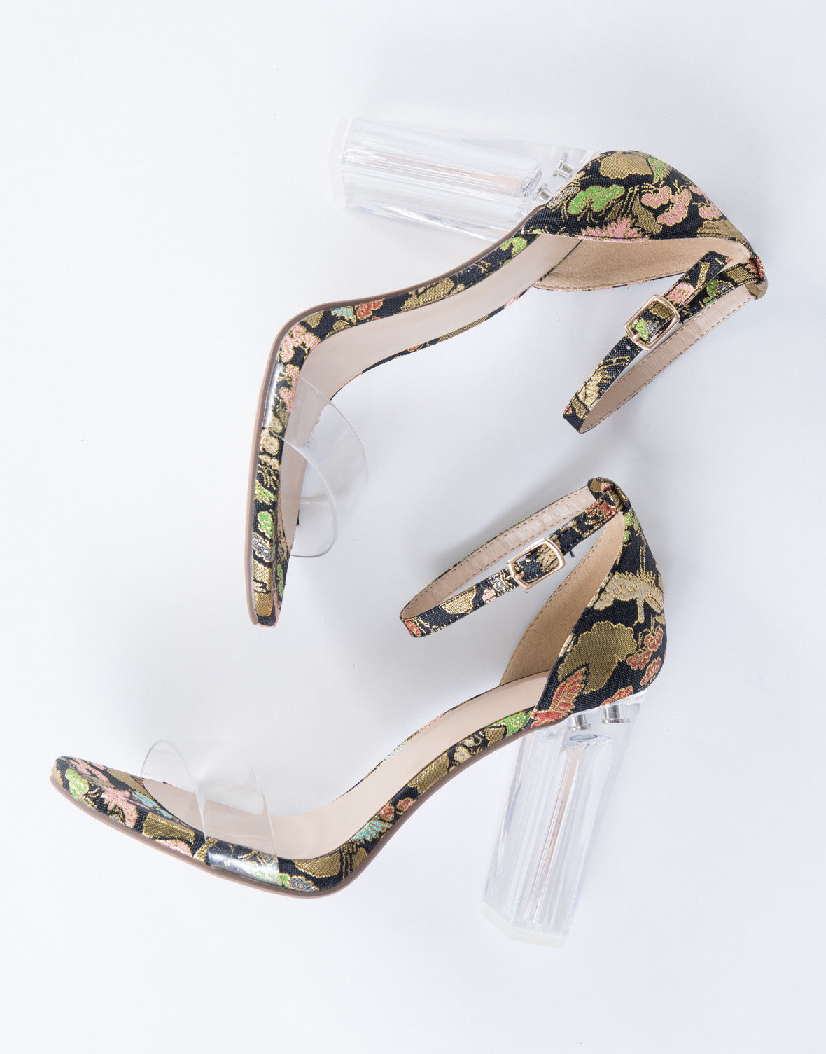 Clearly Embroidered Heels