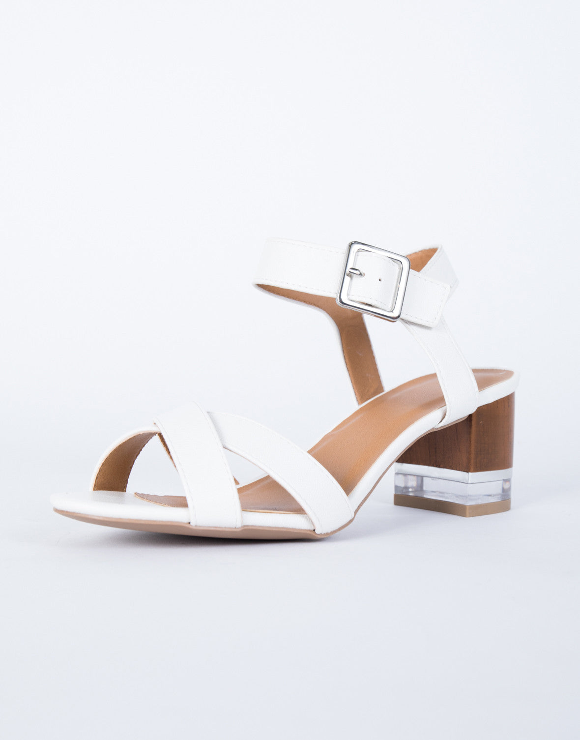 Clearly Wooden Heel Sandals Wooden Heel Sandals Clear Lucite