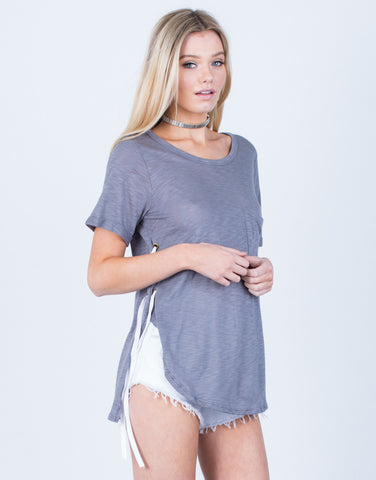 Front View of Close Ties Tunic Tee