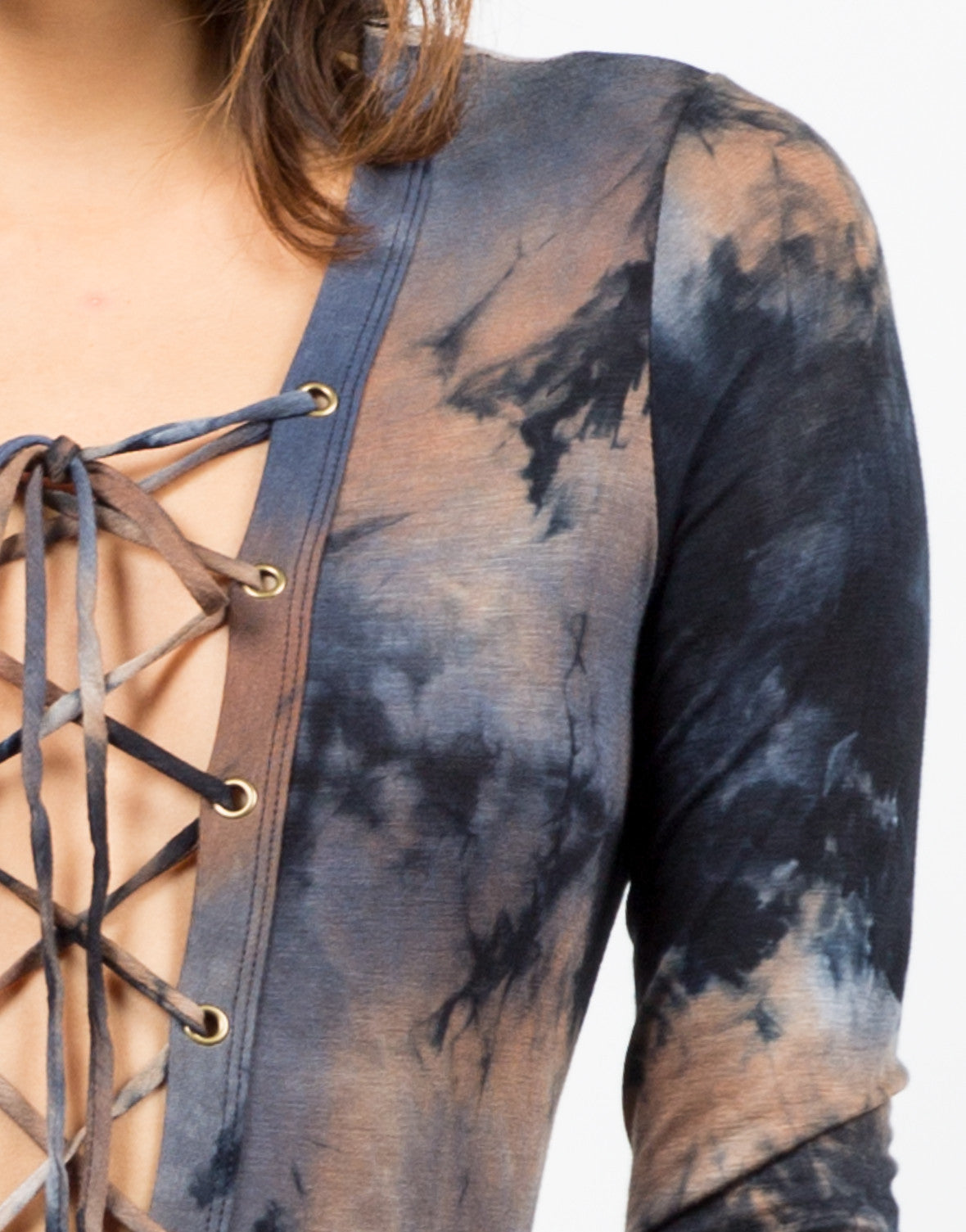Detail of Cloudy Lace-Up Bodysuit