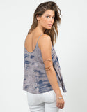 Back View of Cloudy Tie-Dye Tank
