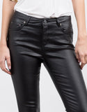 Detail of Coated Skinny Pants