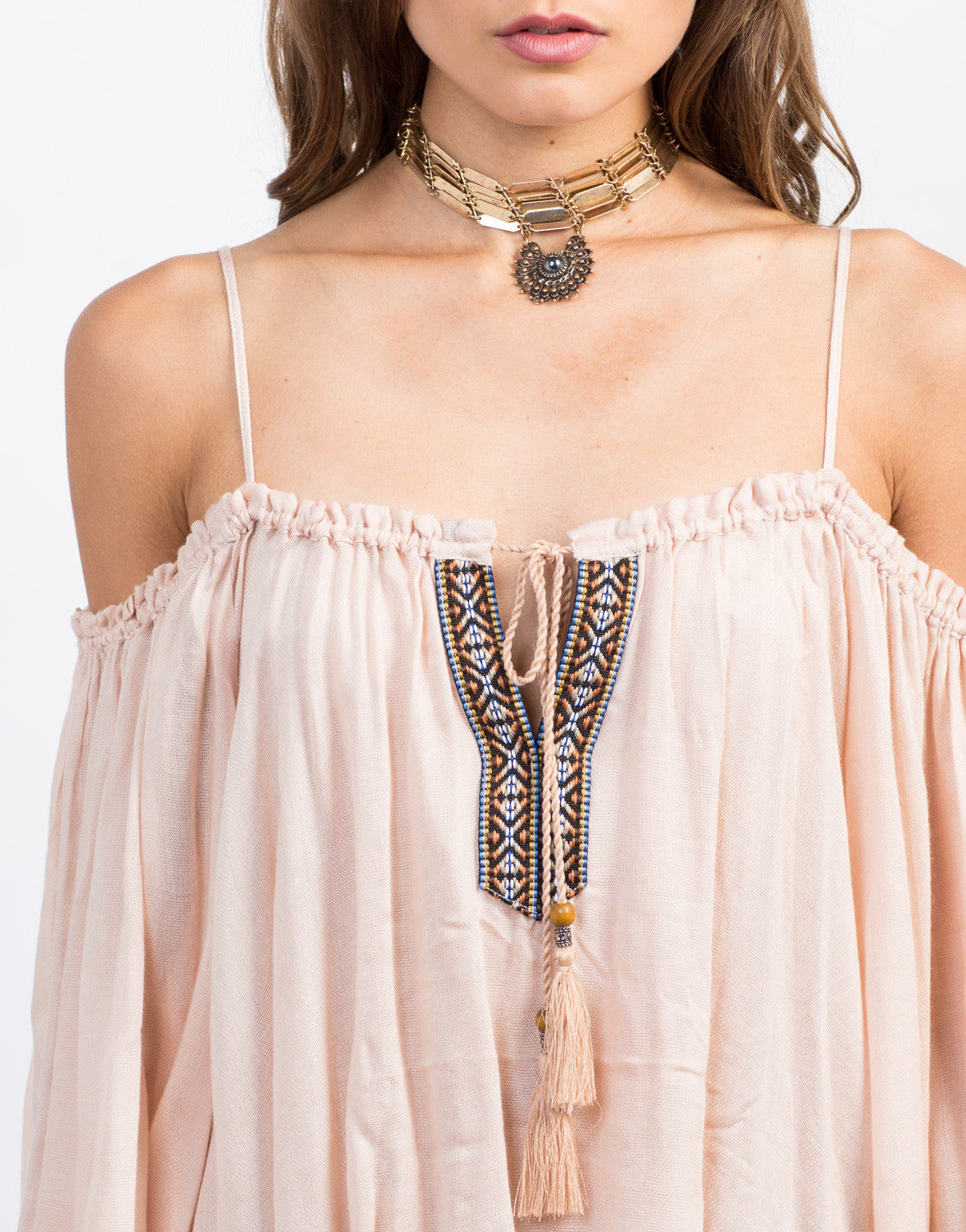 Detail of Cold Shoulder Boho Top