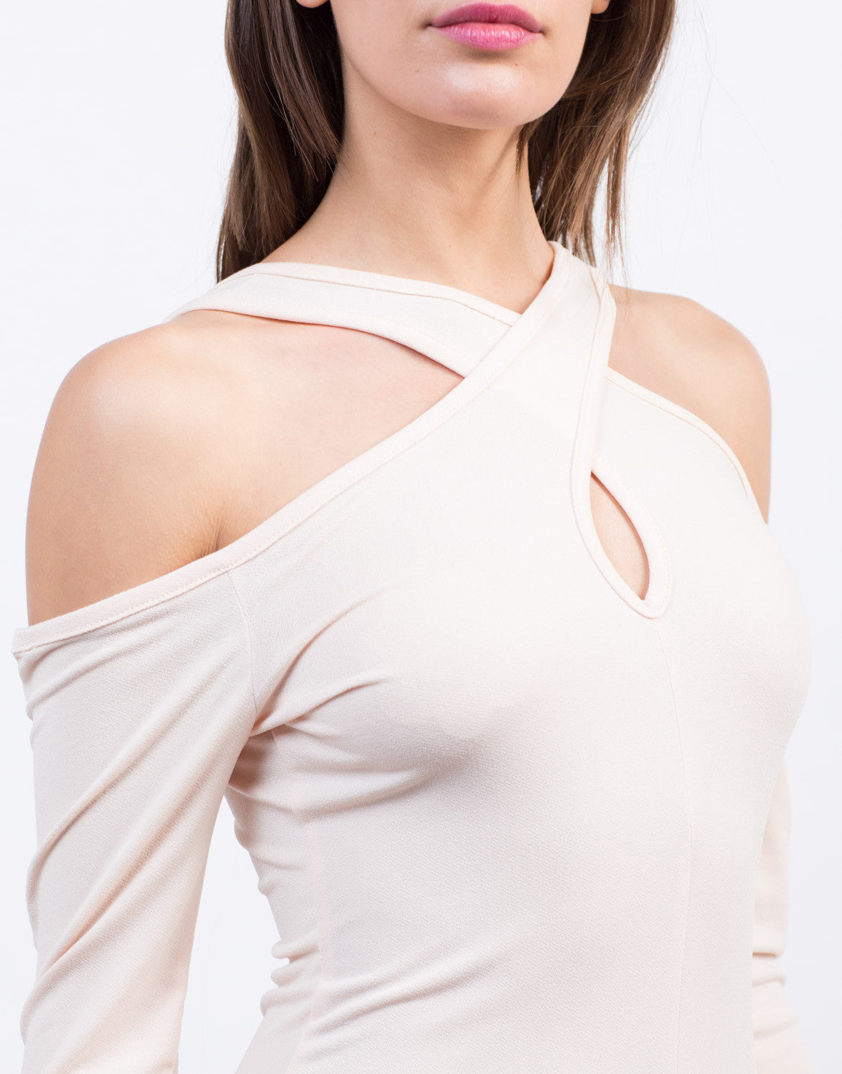 Detail of Cold Shoulder Top