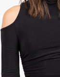 Detail of Cold Shoulder Crop Top