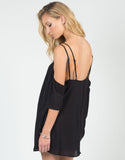 Side View of Cold Shoulder Strappy Dress