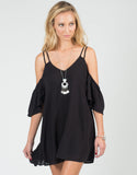 Front View of Cold Shoulder Strappy Dress