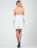 Back View of Cold Shoulder Strappy Dress
