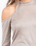 Detail of Cold Shoulder Suede Top