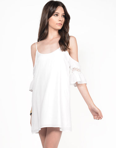 Front View of Cold Shoulder X Dress