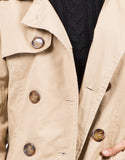 Detail of Collared Double Breasted Trench Coat