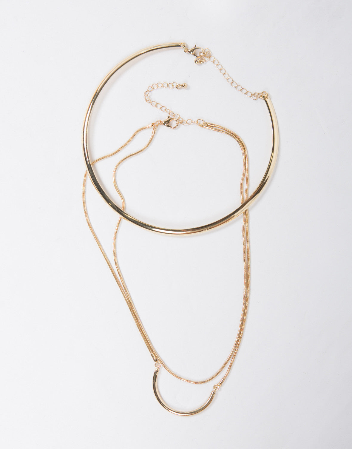 Collar Layered Golden Necklace