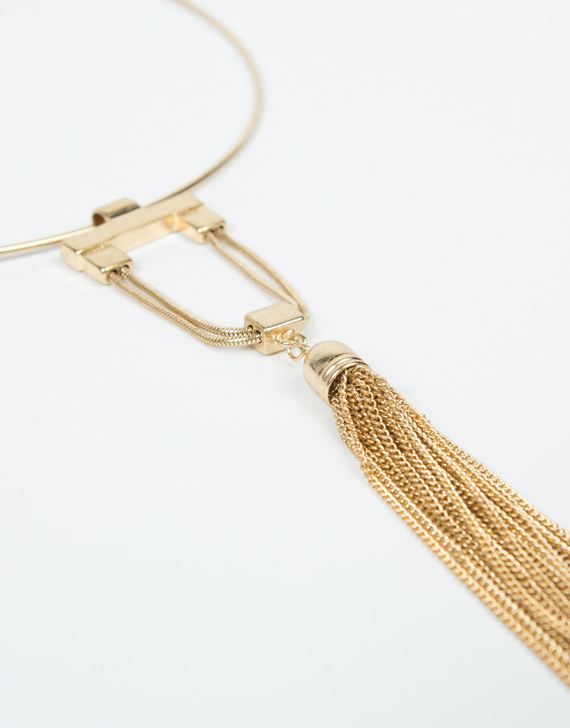 Detail of Collar Tassel Necklace
