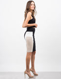 Side View of Color Block Pencil Skirt