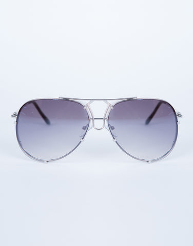 Colored Aviator Sunglasses - Dark Shades