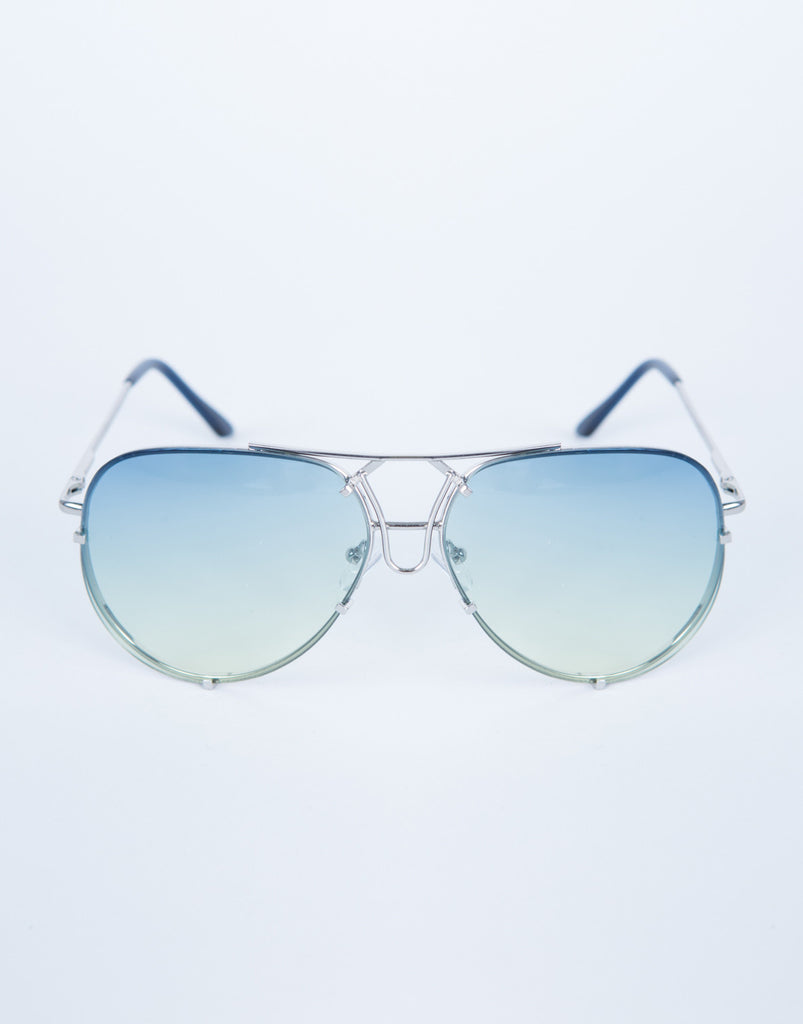 Colored Aviator Sunglasses -Light Shades