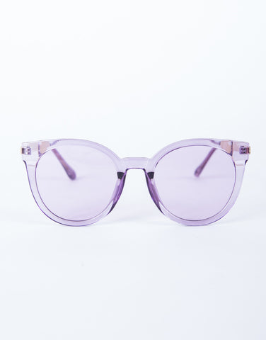 Colored Frame Transparent Glasses