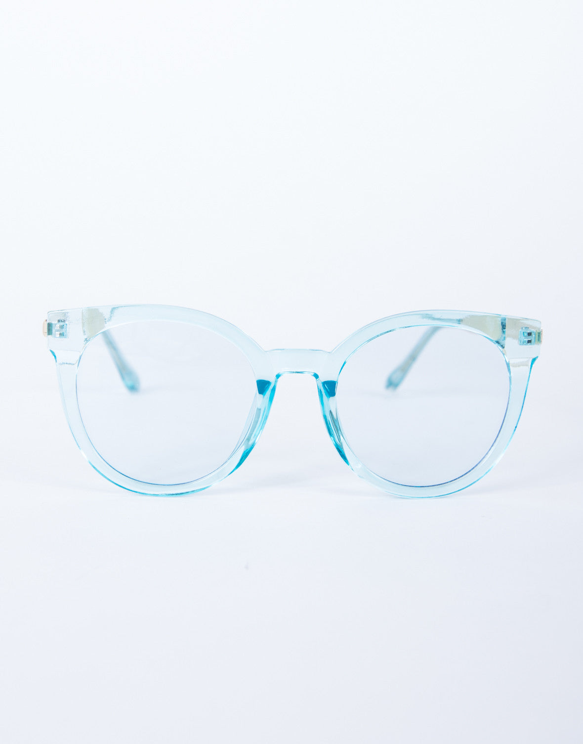 Colored Frame Transparent Glasses - Oversized Sunglasses - Clear ...