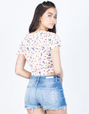 Colorful Floral Top