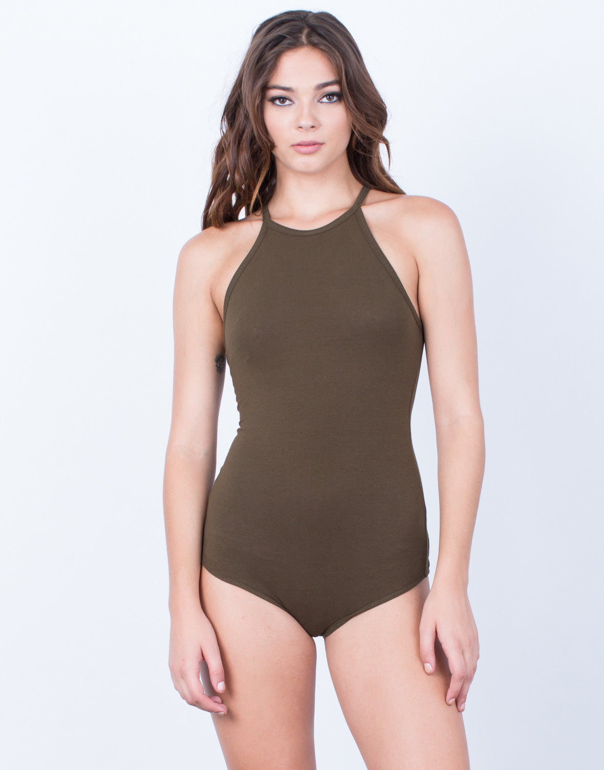 Front View of Comfy Basic Bodysuit