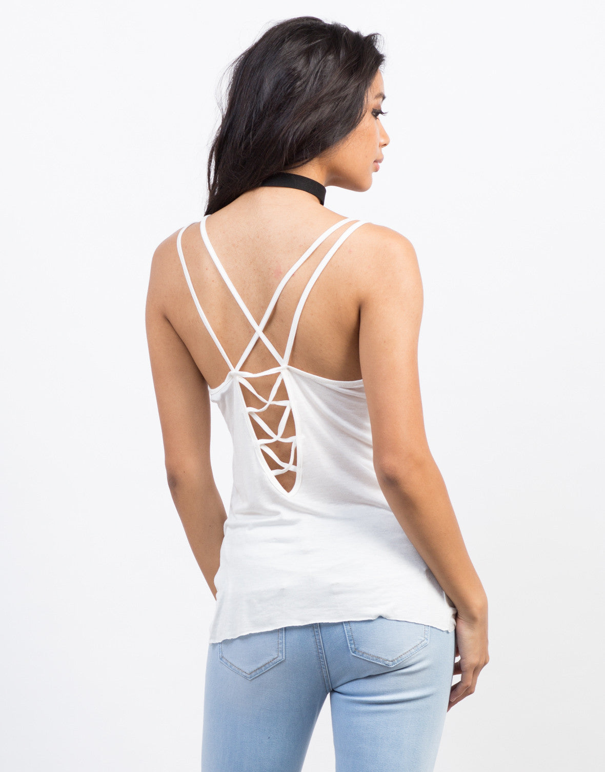 Back View of Comfy Cross Back Tank