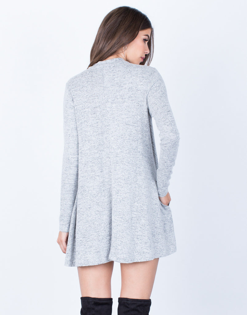 Back View of Comfy Knit Tunic Dress