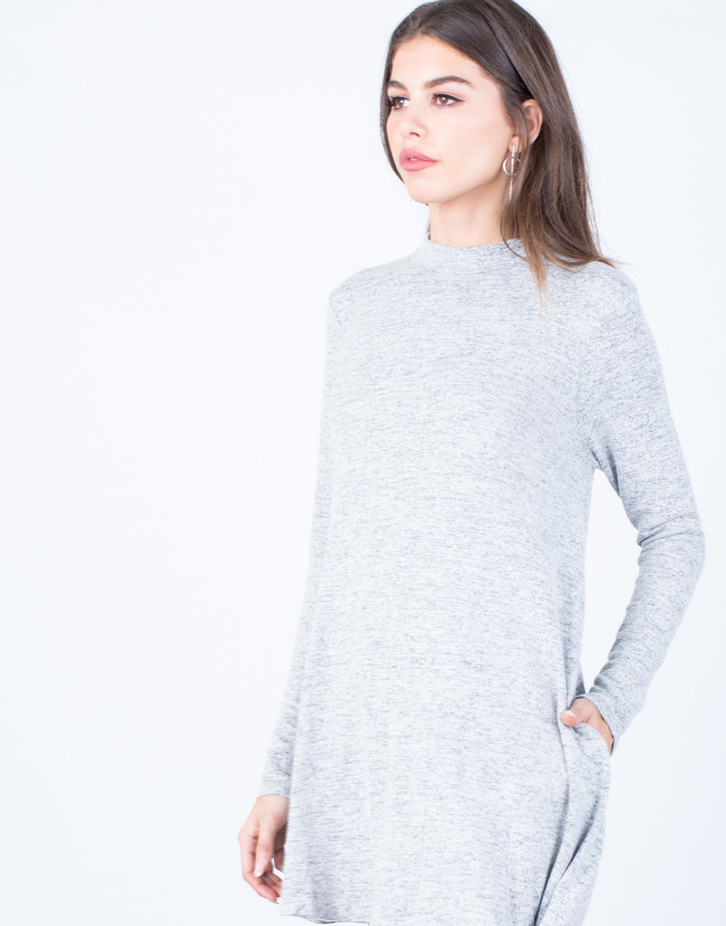 Detail of Comfy Knit Tunic Dress