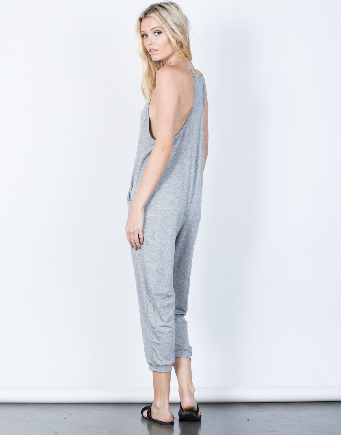 Back View of Comfy Lounging Jumpsuit