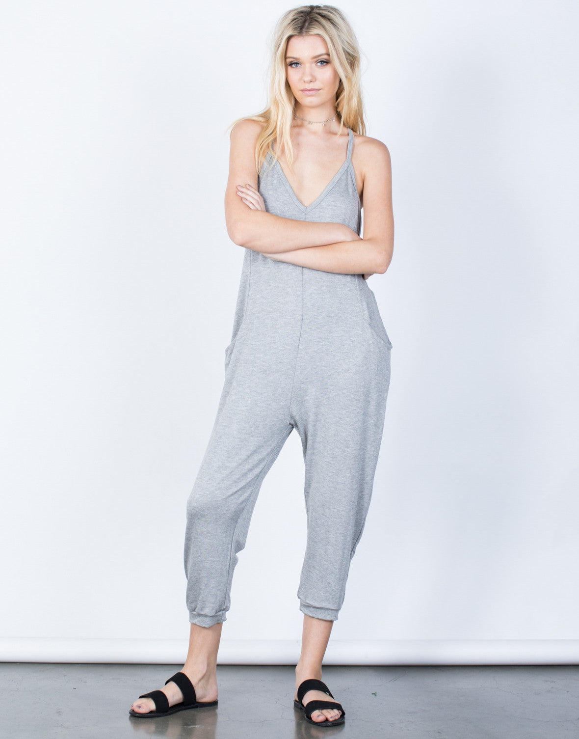 Front View of Comfy Lounging Jumpsuit