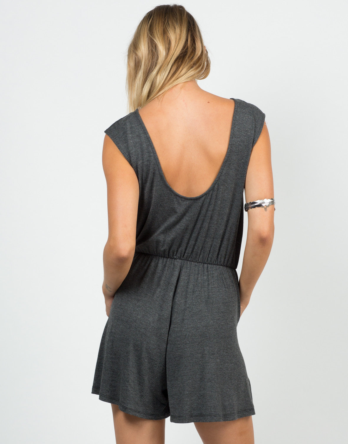 Back View of Comfy Jersey Romper