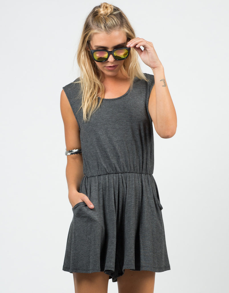 Front View of Comfy Jersey Romper
