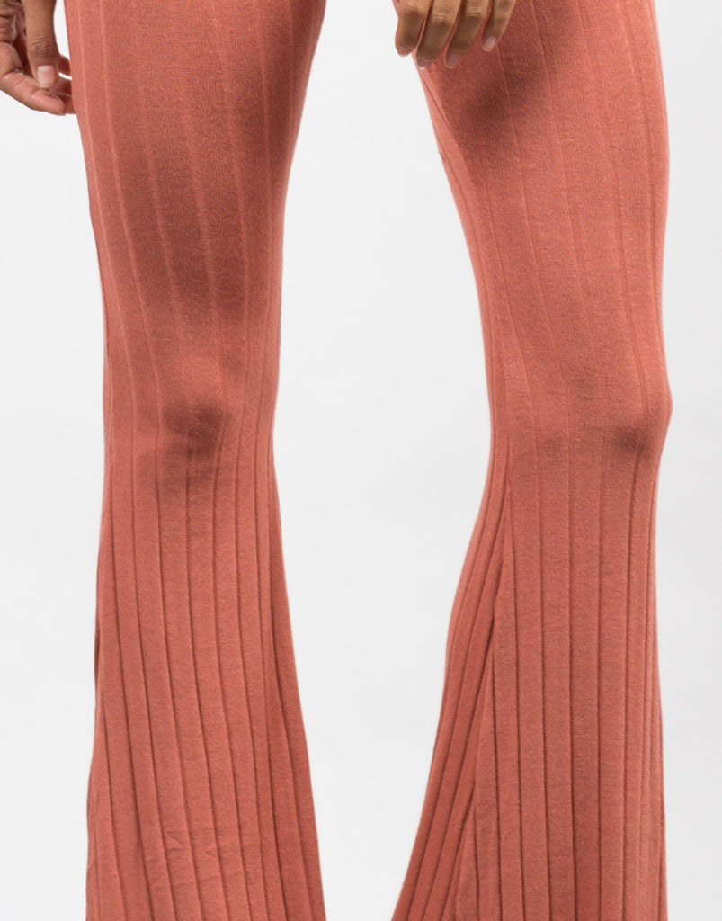 Detail of Comfy Ribbed Flare Pants