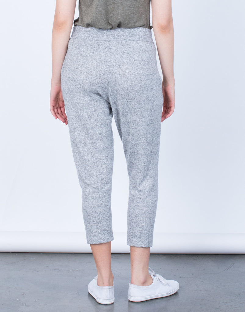 Back View of Comfy Knit Jogger Pants