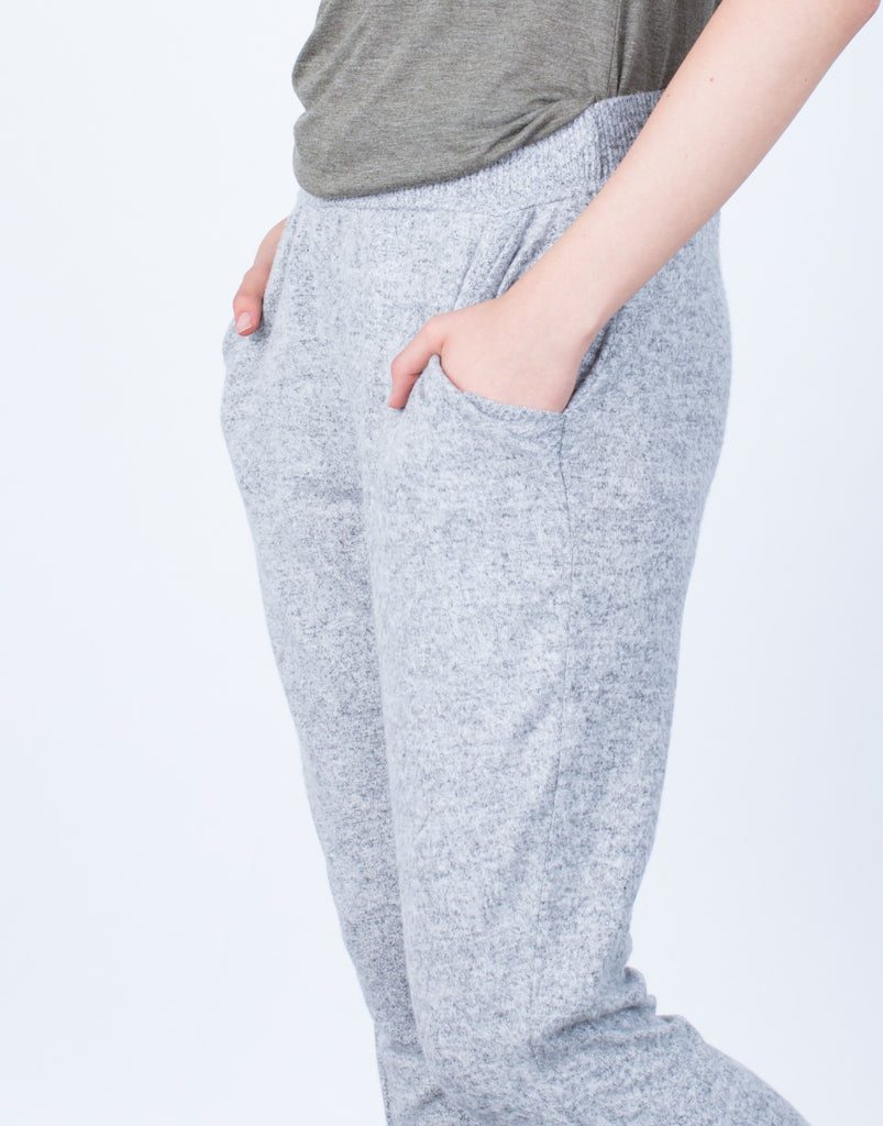 Detail of Comfy Knit Jogger Pants