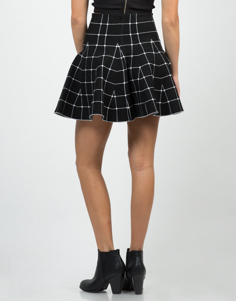 Back View of Connect The Dots Mini Skirt