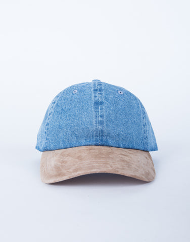 Contrast Denim Cap