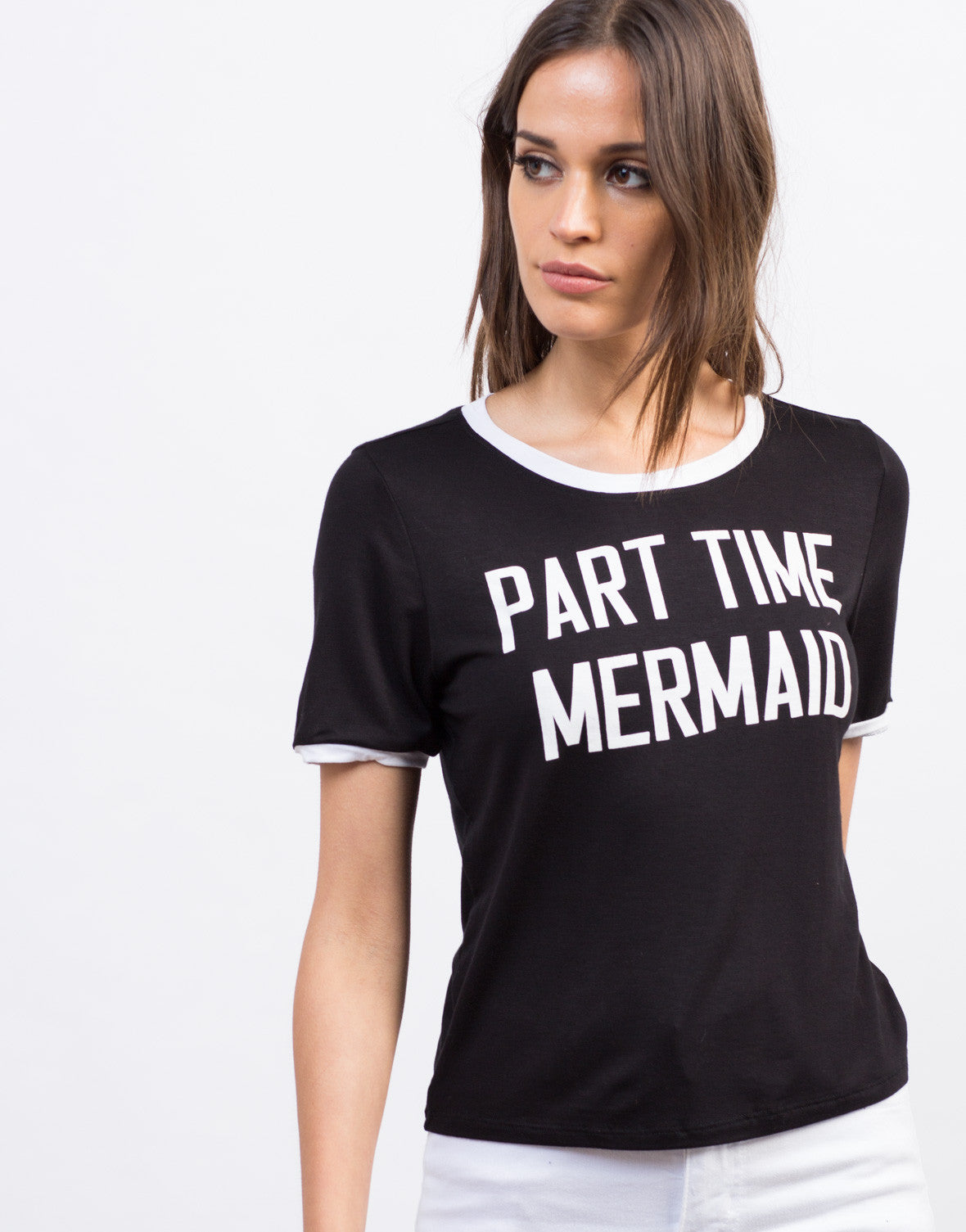 Detail of Contrast Mermaid Tee