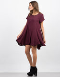 Side View of Front View of Contrast Babydoll Dress