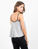 Contrast Heathered Cami