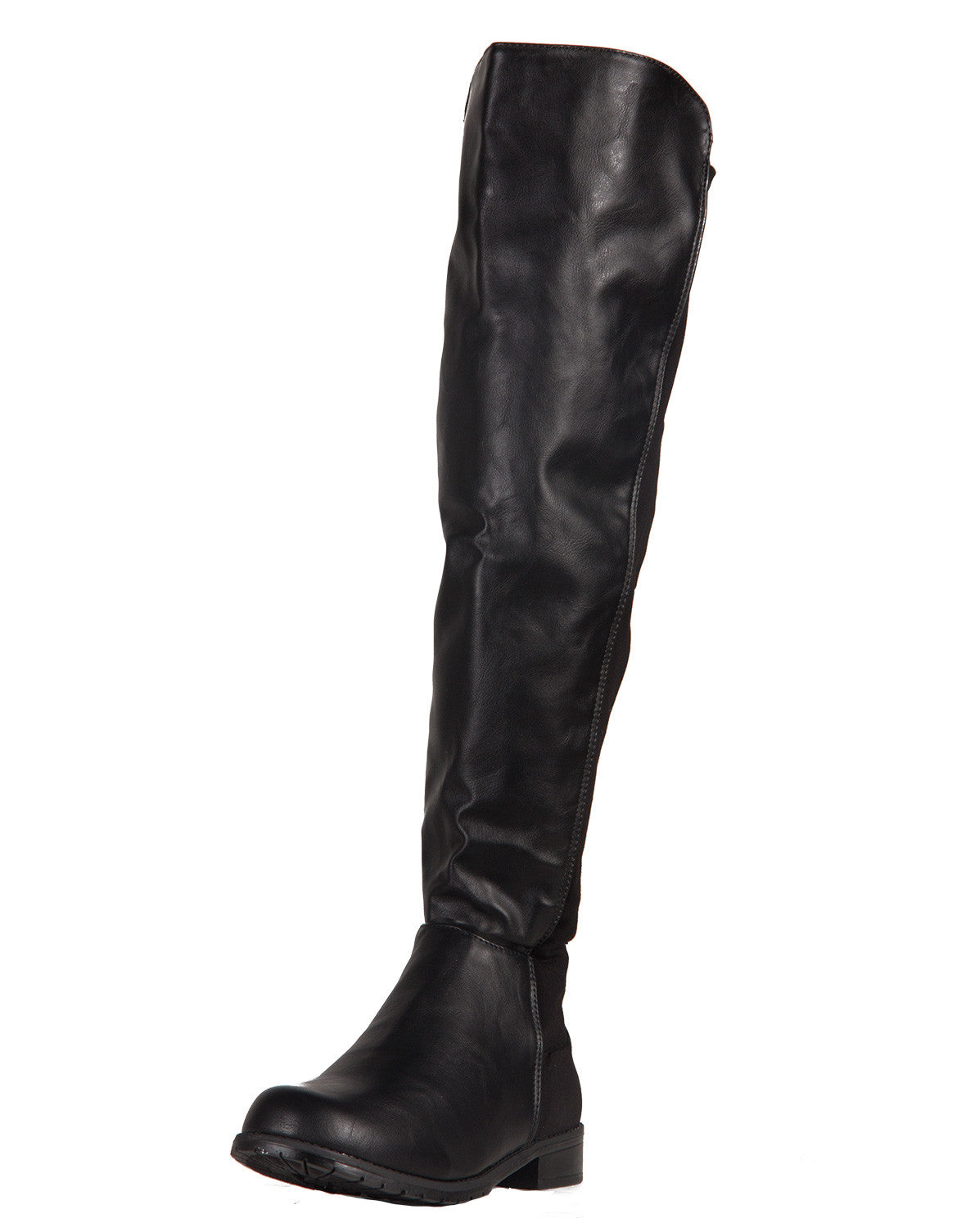 Contrast Over-The-Knee Boots