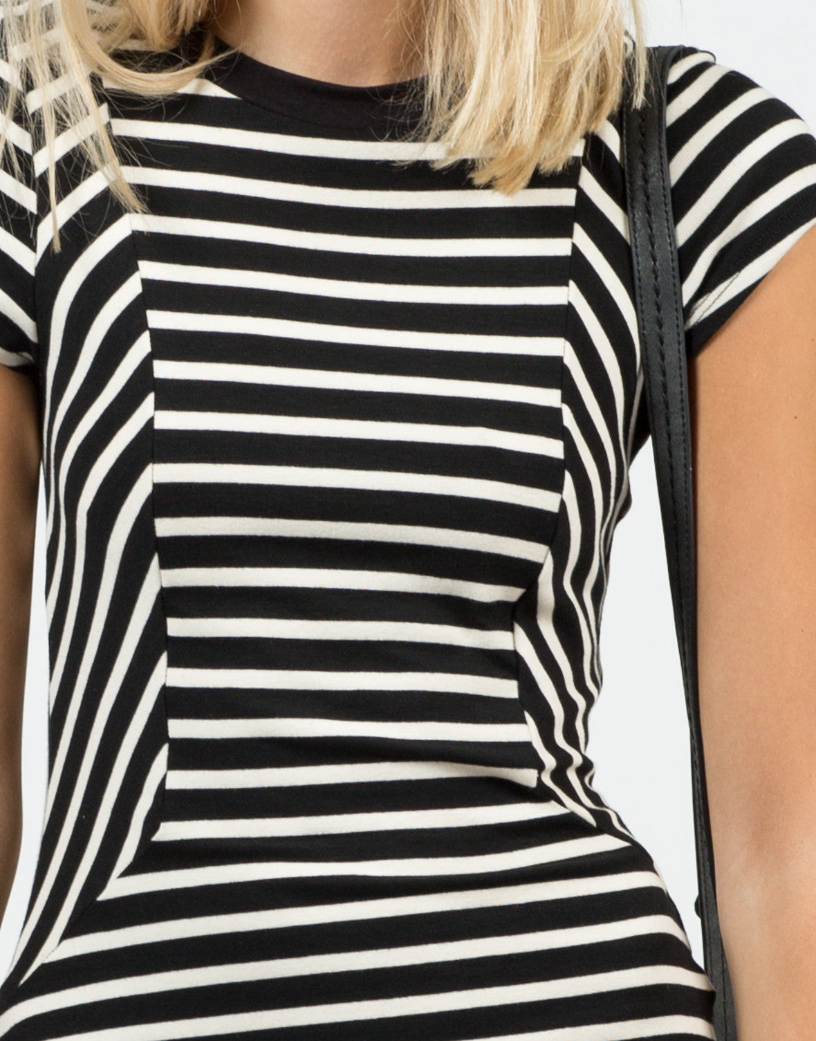 Detail of Contrast Striped Dress