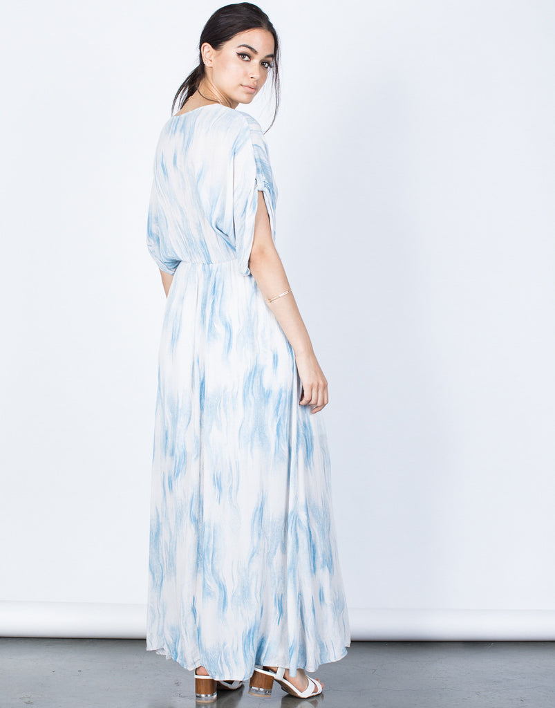 Back View of Cool Waves Maxi Dress