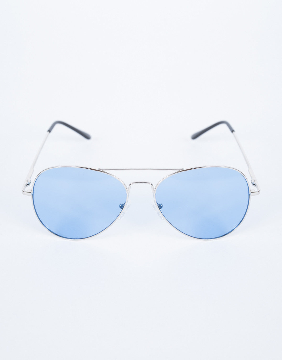 Blue Cooled Down Aviators - Top View