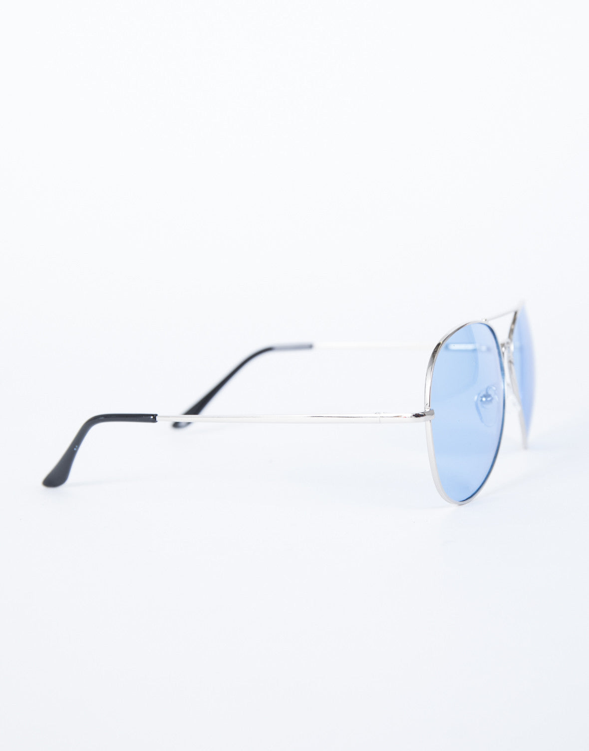 Blue Cooled Down Aviators - Side View